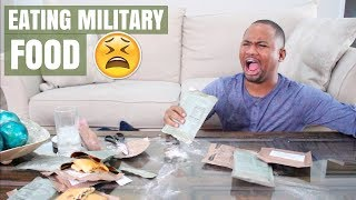 Trying US Military Food (MREs) For The First Time | Alonzo Lerone
