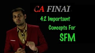 CA Final SFM Important Concepts for SFM to cover 70-80% Marks in May 2016 Exam