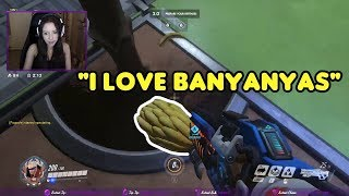 Anita TRIGGERED by bananas in Overwatch | Sweet Anita MOST VIEWED CLIPS #6