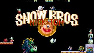 Snow Bros para android en Tiger Arcade(emulador de juegos NEOGEO)