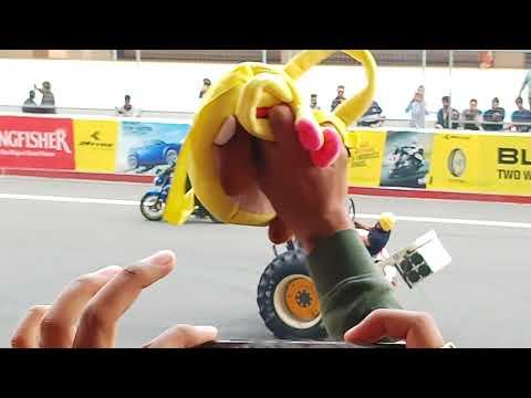 JK TYRE Racing event - Bike stunt