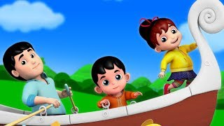 Row row row your boat | nursery rhymes for kids and baby | Junior Squad by Kids TV