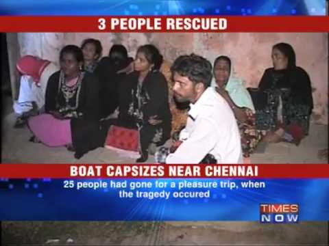 22 killed as boat capsizes in Chennai