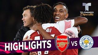 Arsenal vs. Leicester City: 3-1 Goals & Highlights | Premier League | Telemundo Deportes