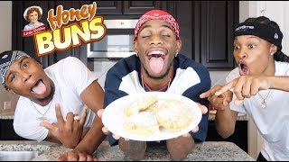 HOW TO MAKE FRIED HONEYBUNS!!!! FT. PERFECTLAUGHS