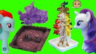 Grown Your Own Rainbow Crystal Tree + Rocks ? - Dollar Tree Crafts with MLP + Gemma Stone