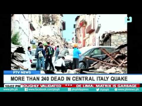 More than 240 dead in Central Italy earthquake