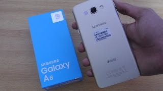 Samsung Galaxy A8 GOLD - Unboxing, Setup & First Look HD