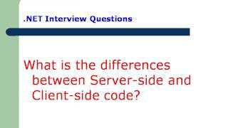 dot Net interview questions part-1