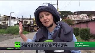 Philippines 'At War': Civilians evacuated as army takes fight to terrorists in Marawi (EXCLUSIVE)