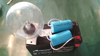 Easy to make a  inverter using fan capacitor with out any cercit
