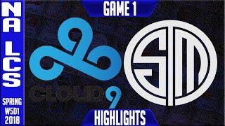 C9 vs TSM Highlights   NA LCS Week 5 Spring 2018 W5D1   Cloud 9 vs Team Solomid Highlights