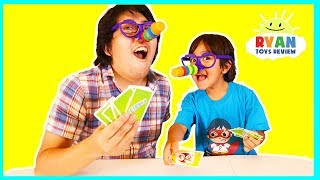 Ryan plays Are you a good liar with Fibber Board Games for kids