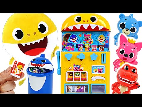 Pinkfong Baby Shark drinks vending machine toys play Let s get milk and candy PinkyPopTOY
