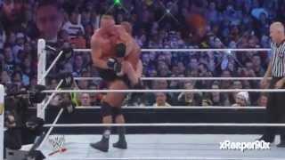 WWE - Brock Lesnar vs Triple H (Wrestlemania 29) - highlights [HD]
