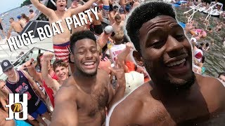 JuJu Smith-Schuster Crashes a Giant Boat Party!