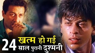 Shahrukh khan shows Warm gesture to Sunny Deol for Karan Deol Launching !