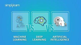 Machine Learning Vs Deep Learning Vs Artificial Intelligence | ML Vs DL Vs AI | Simplilearn
