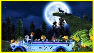 Halloween Wheels On The Bus | Halloween Songs For Kids | Kidrhymes