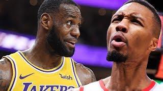 LeBron James RECRUITING Damian Lillard To The Lakers!