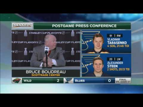 Boudreau says Hanzal played best game in Wild uniform