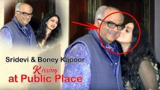 Sridevi Kiss Bony Kapoor In Public   Top Telugu Media