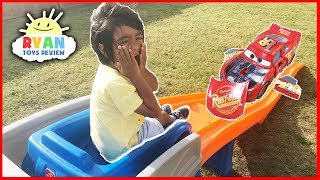 CARS 3 Crazy Crash & Smash Step2 Roller Coaster Extreme Thrill Ride ON Cars Toys for Kids