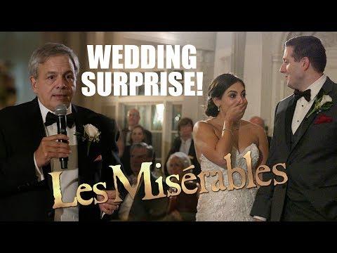 Surprise Wedding Les Misérables Musical Flash Mob!  Watch the Bride's REACTION!!!!