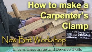 How to make a simple carpenters clamp