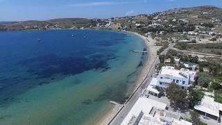 Magginas Studios Drone Air View Paros Livadia Beach Greece