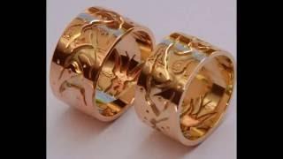 The Teaching Of Wisdom gold overlay wedding rings by ZhaawanArt