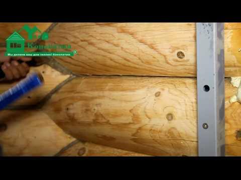 Конопатка дома из бруса своими руками видео - Поселок Лесной родник