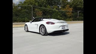 Fastest Boxster Ever ! 2016 Porsche Spyder in White & Engine Sound - My Car Story with Lou Costabile
