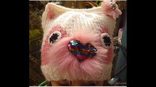 تريكو طاقية القطة  بطريقة سهلة شرح كل الخطوات للمبتدئين للبنات والصبيانCat hat knitting
