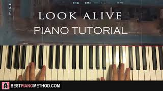 HOW TO PLAY - BlocBoy JB & Drake - Look Alive (Piano Tutorial Lesson)