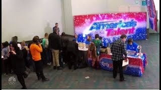 Howie Mandel Disguises as a Woman At The AGT Open Auditions and it
