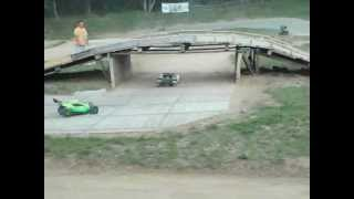 BB6 Funcup B Finale 4wd  rc race 1:5 scale  3. lauf  in Staaken Losi 5ive-t vs carbon fighter vs Mcd