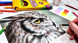 DRAWING WITH CRAYOLA PENCILS! Create EPIC Art with CHEAP Supplies