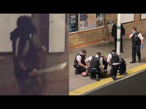 Xxx Mp4 Man With Massive Machete Gets Tasered On London Platform 3gp Sex
