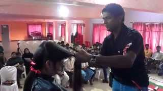 feather step layer cut technique mahesh hyderabad india