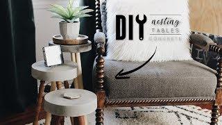 DIY Concrete Nesting Tables
