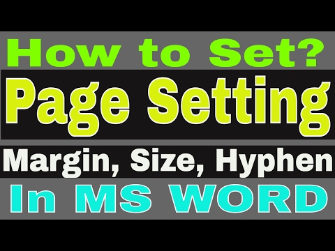 How to set Page setup Margin Size Column Hyphen in MS Word
