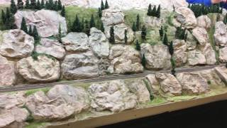 TRAIN CRASH AND FIRE AT DUNDEE! Dundee model rail show 2016