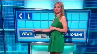 Rachel Riley spells rude word- trys hard not to laugh