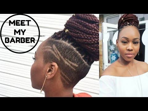Xxx Mp4 Meet My Barber New Hair Shave Sides With Braids QueenTeshna 3gp Sex