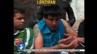 Police show off with display of dozen hooligans in tehran street