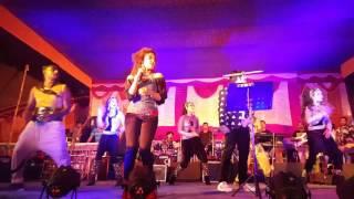 Superstar Ankush and Singer Biswajeeta performing daddy ke tor ami sosur banabo at murshidabad