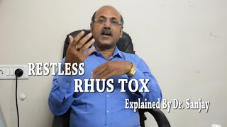 Restless Rhus Tox (Poison Oak) Explained By Dr. Sanjay (HINDI)