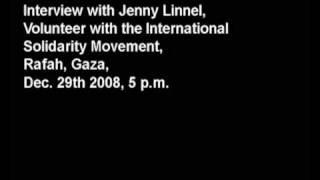 Gaza Interview Jenny Linnel