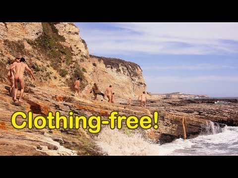 Xxx Mp4 Prowling Panther Beach Nudist Group Explores Oceanside Rock Formations 3gp Sex